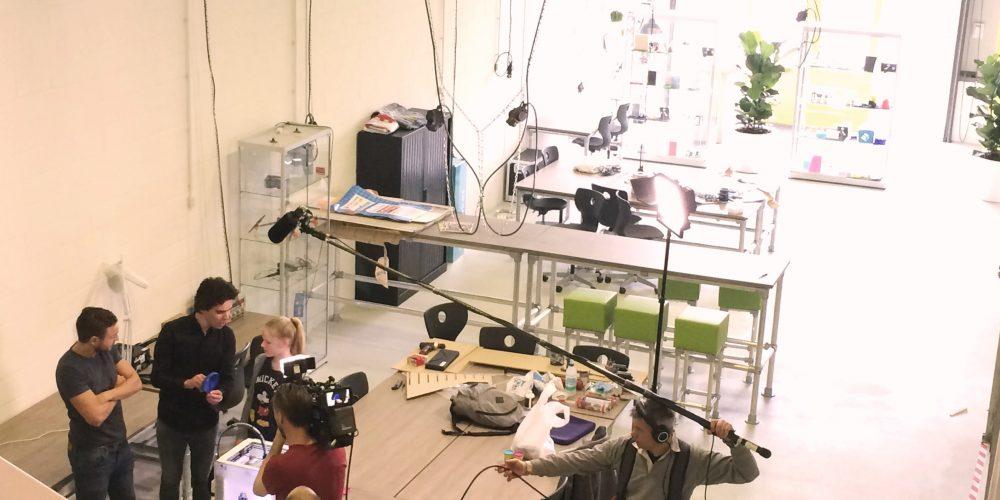 Willem Wever bezoekt MakersLab en Oceanz 3D printing
